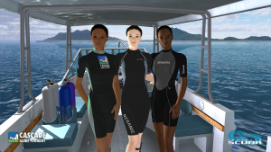 Devi, Hana, and Lulu - our new divers!