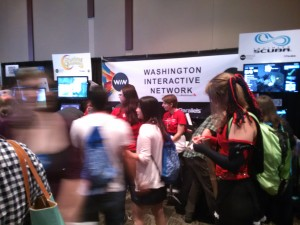 Washington Interactive Network booth was hopping all 4 days of PAX!