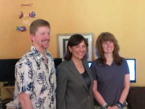 Russ Glaeser, Suzan DelBene, Kathie Flood